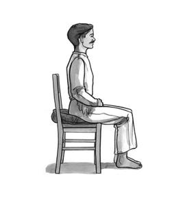 posture correcte sur chaise